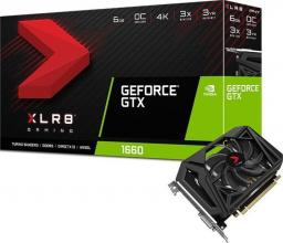 Karta graficzna PNY Technologies GeForce GTX 1660 XLR8 Gaming OC 6GB GDDR5 (VCG16606SFPPB-O)