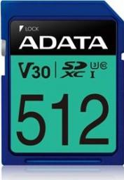 Karta MicroSD ADATA PremierPro 512GB UHS-I U3 V30 100/80 MB/s (ASDX512GUI3V30S-R)