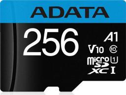 Karta ADATA MicroSDXC Premier 256GB UHS1/CL10/A1 (AUSDX256GUICL10A1-RA1)