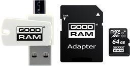 Karta GoodRam MicroSDXC 64GB CL10 + adapter  (M1A4-0640R12)