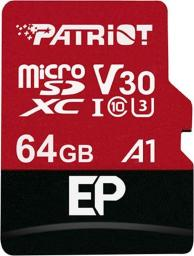 Karta Patriot MicroSDXC EP Series 64GB V30, A1, U3 up to 100MB/s (PEF64GEP31MCX)