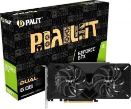Karta graficzna Palit GeForce GTX 1660 Ti Dual, 6GB GDDR6 (NE6166T018J9-1160A)