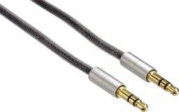 Kabel Hama Jack 3.5mm - Jack 3.5mm 0.5m srebrny (808680000)