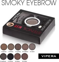 Vipera Zestaw Smoky Eyebrow Stencil Kit 07 Tunnel 4.5g