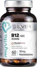 MYVITA MYVITA_Silver Witamina B12 Forte 100µg 100% czysty suplement diety 60 kapsułek