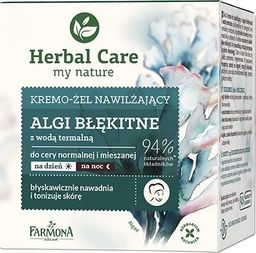 Farmona Krem do twarzy Herbal Care My Nature Moisturizing Cream-Gel Algi Błękitne nawilżający 50ml