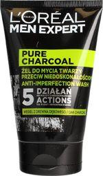 L´Oreal Paris L'OREAL_Men Expert żel do mycia twarzy przeciw niedoskonałościom Pure Charcoal 100ml