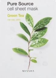 Missha Maseczka do twarzy Pure Source Cell Sheet Mask Green Tea 21g