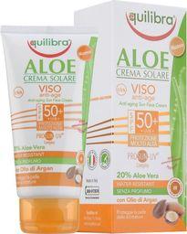 Equilibra EQUILIBRA_Aloe Anti-Aging Sun Face Cream SPF50+ aloesowy przeciwzmarszczkowy krem przeciwsłoneczny 75ml