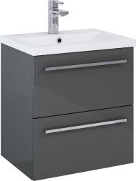 Zestaw szafka z umywalką Elita Kwadro 50cm antracyt