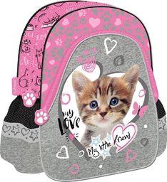 St. Majewski Plecak szkolno-wycieczkowy My Little Friend Kot różowy