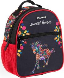 Starpak Plecak szkolny 12 Horses czarny
