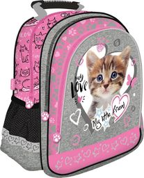 St. Majewski Plecak szkolny My Little Friend Kot Pink