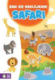 Zielona Sowa Baw się naklejkami. Safari