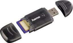 Czytnik Hama 6 w 1 USB 2.0 Czarny SD/SDHC (001147310000)