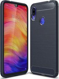 Hurtel Carbon Case elastyczne etui pokrowiec Xiaomi Redmi Note 7 niebieski uniwersalny