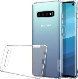 Nillkin Nature żelowe etui pokrowiec ultra slim Samsung Galaxy S10 przezroczysty uniwersalny