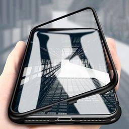 Wozinsky Wozinsky Magnetic Case magnetyczne etui 360 pokrowiec na całą obudowę przód + tył Huawei P30 Pro czarny uniwersalny