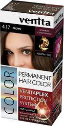 Venita VENITA_Plex Protection System Permanent Hair Color farba do włosów z systemem ochrony koloru 4.17 Brown