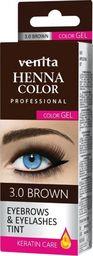 Venita VENITA_Professional Henna Color Gel żelowa farba do brwi i rzęs 3.0 Brown