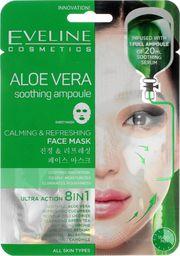 Eveline Maseczka do twarzy Aloe Vera Soothing Ampoule Calming&Refreshing Face Mask łagodząco-odświeżająca