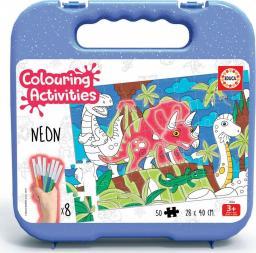 Educa Puzzle do kolorowania 50 elementów Dinozaury