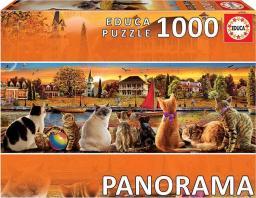 Educa Puzzle 1000 elementów Koty na nadbrzeżu Panorama