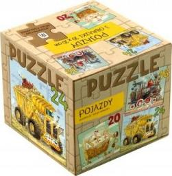 Nasza Księgarnia Puzzle 3 w 1 Pojazdy