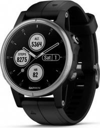 Garmin Zegarek sportowy Fenix 5S Plus czarny z czarnym paskiem