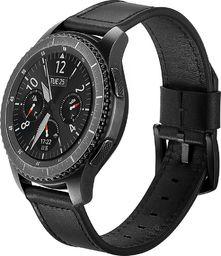Tech-Protect skórzany pasek do Samsung Galaxy Watch 46mm Czarny