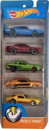Hot Wheels Zestaw 5 Samochodów Muscle Mania 5-Pack (DJG23/DVG01)