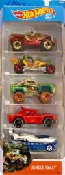 Hot Wheels Zestaw 5 Samochodów Jungle Rally (DJG23/FKT54)