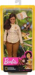 Barbie National Geographic. Ekolożka z małpką i notatnikiem (GDM44/GDM48)