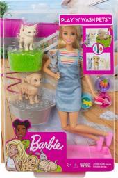 Barbie  Zestaw z Lalką Kąpiel Zwierzątek (FXH11)