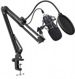 Mikrofon Mozos Zestaw 192KHZ/24BIT USB Pop Filtr Statyw (MKIT-700PROV2)