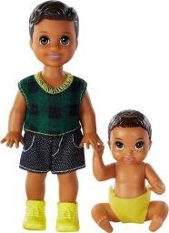 Barbie Rodzeństwo Brunetka + niemowlę (GFL30/GFL32)