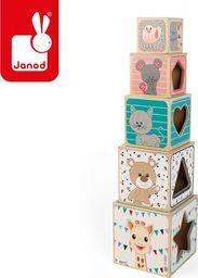 Janod Piramida wieża drewniana Żyrafka Sophie (J09503)