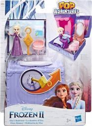 Hasbro Disney Frozen Kraina Lodu 2 Zestaw walizeczka Pop Up Sypialnia Elsy + Mini laleczka Elsa (E6859)