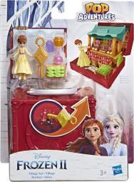 Hasbro Disney Frozen Kraina Lodu 2 Zestaw walizeczka Pop Up Stragan w Arendelle + Mini laleczka Anna (E7080)