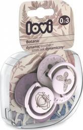 Lovi Smoczek silikonowy dynamiczny 0-3m 2 szt Botanic Girl