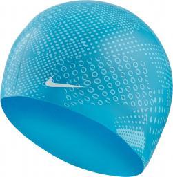 Nike Czepek pływacki Optic Camo Silicone blue flury (NESS9161-430)
