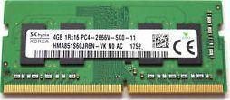 Pamięć do laptopa SK Hynix 4GB 2666MHz DDR4 (pc4-2666v-sc0-11) - demontaż