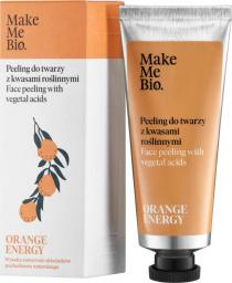 Make Me Bio Orange Energy - Peeling do Twarzy z  Kwasami Roślinnymi (40 ml)