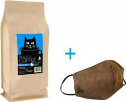 Black Cat 80% Arabika 20% Robusta 1000g + Maseczka. Wypalana w Polsce