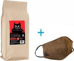 Black Cat 50% Arabika 50% Robusta 1000g + Maseczka. Wypalana w Polsce