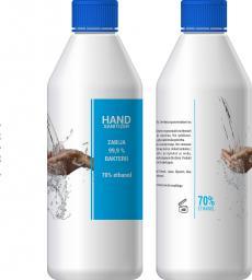 Płyn do dezynfekcji dłoni z aloesem 1L