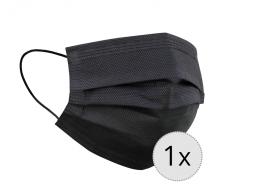 maseczka ochronna 3-warstwowa wielokrotnego użytku czarna