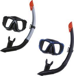 Bestway Maska z rurką do nurkowania z zaworem BlackSea szkła hartowane (24021)