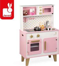 Janod Duża kuchnia drewniana z dźwiękiem i 6 akcesoriami Candy Chic (J06554)