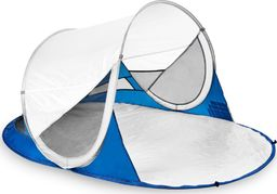 Spokey Namiot plażowy Stratus samorozkładający z filtrem  UV biało-granatowy (926784)